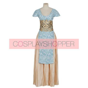 Game of Thrones Daenerys Targaryen Khaleesi Blue Dress Cosplay Costume (Qarth Look)