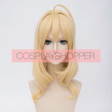 Gold 45cm IDOLiSH7 Tsumugi Takanashi Cosplay Wig
