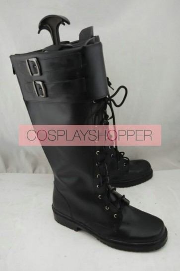 Captain America Black Cosplay Boots