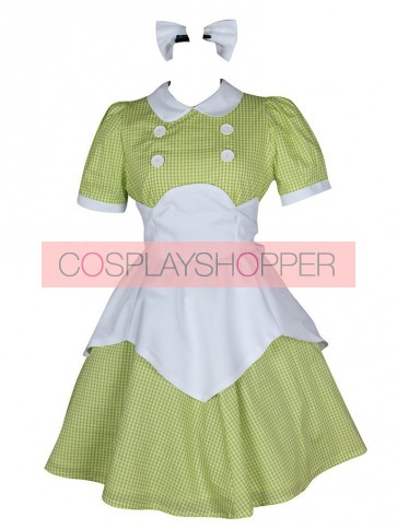 BioShock Little Sisters Green Plaid Cosplay Costume