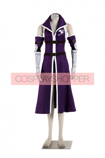 Fairy Tail Erza Scarlet Purple Dress Cosplay Costume