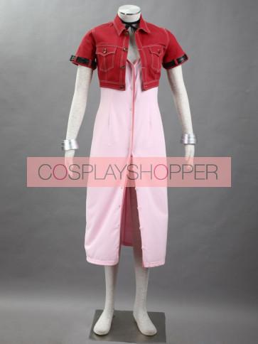 Final Fantasy VII 7 Aerith Gainsborough Cosplay Costume
