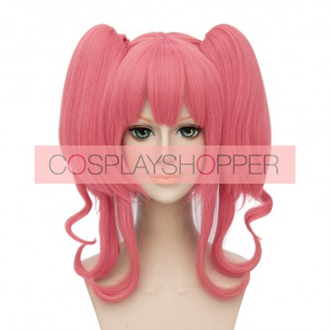 Pink 30cm Macross Delta Makina Nakajima Cosplay Wig