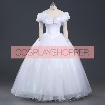 Deluxe Cinderella White Dress Cosplay