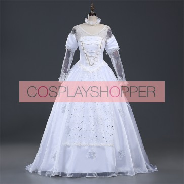 Alice in Wonderland 2 The White Queen Cosplay Costume