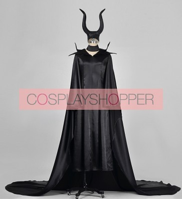 Maleficent Cosplay Costume With Hat