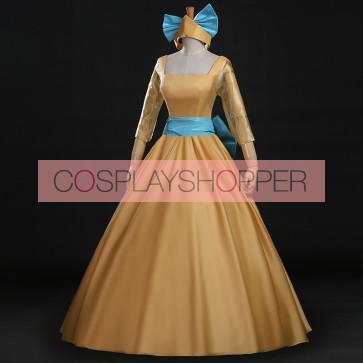 Anastasia Yellow Dress Cosplay Costume