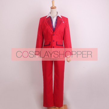 Tokyo Ghoul Shu Tsukiyama Red Suit Cosplay Costume