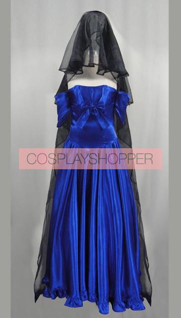 Dance with Devils Ritsuka Tachibana Blue Wedding Dress Cosplay Costume