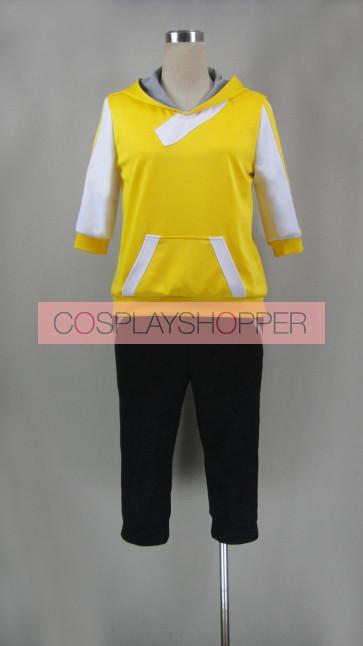 Pokemon Go Male Trainer Yellow Cosplay Costume