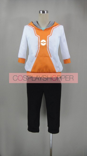 Pokemon Go Male Trainer Orange Cosplay Costume