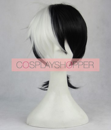 Black and White 40cm Young Black Jack Kuroo Hazama Cosplay Wig
