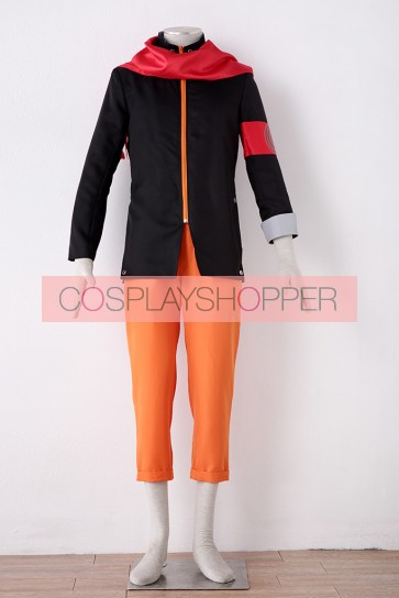 The Last: Naruto the Movie Naruto Uzumaki Cosplay Costume (with Red Scarf)