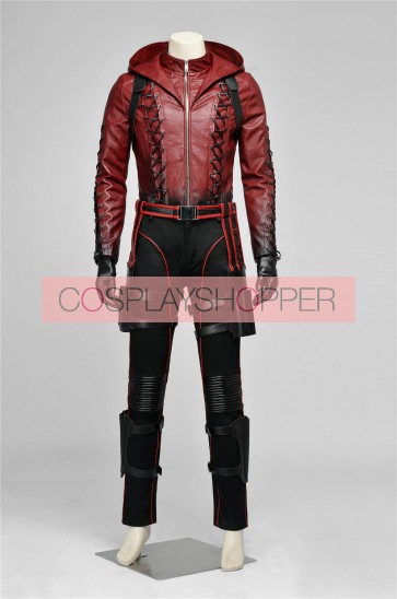 Arrow 3 Red Arrow Roy Harper Arsenal Cosplay Costume V1