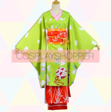 Puella Magi Madoka Magica Kyoko Sakura Geisha Geisha Version Kimono Cosplay Costume