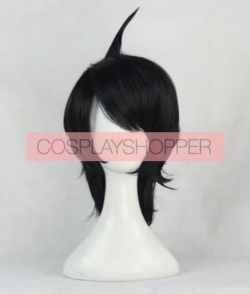 Black 35cm Monogatari Koyomi Araragi Cosplay Wig