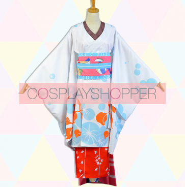 Puella Magi Madoka Magica Sayaka Miki Geisha Geisha Version Kimono Cosplay Costume