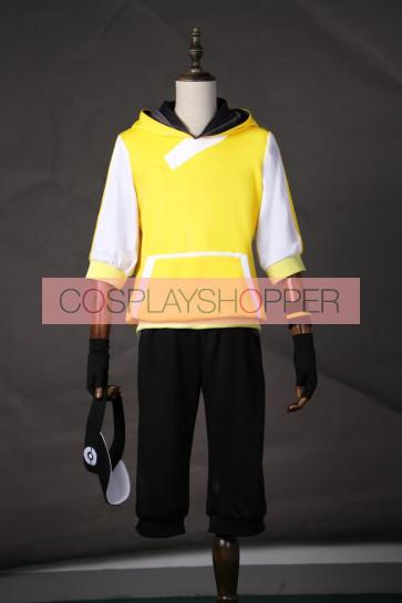 Pokemon Go Male Trainer Team Instinct Mystic Valor Yellow Cosplay Costume