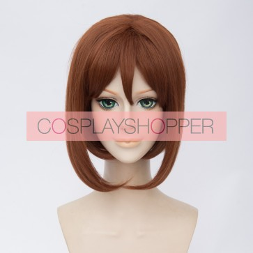 Brown 35cm My Hero Academia Ochako Uraraka Cosplay Wig