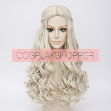 Gold 60cm Alice in Wonderland 2 The White Queen Alice Cosplay Wig