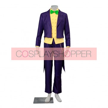 Batman: Arkham City The Joker Cosplay Costume (Green Bowtie)
