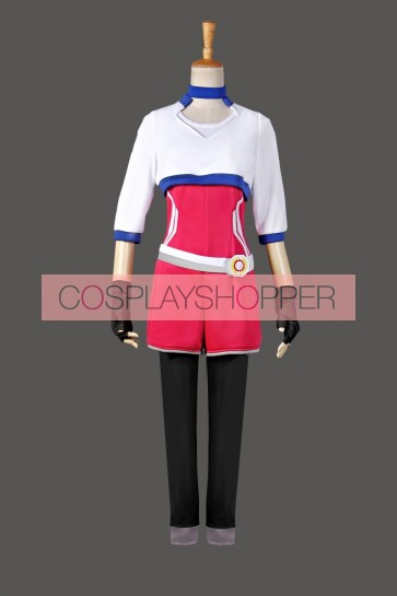 Pokemon Go Female Trainer Team Instinct Mystic Valor White Shirt Cosplay Costume