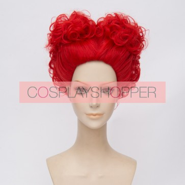 Red 30cm Alice in Wonderland 2 Red Queen Cosplay Wig