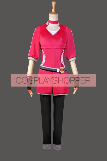 Pokemon Go Female Trainer Team Instinct Mystic Valor Red Shirt Cosplay Costume