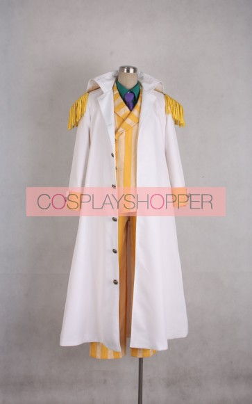 One Piece Kizaru Borsalino Navy Admiral Kizaru Cosplay Costume