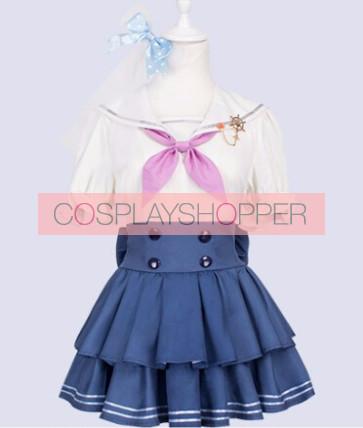 Love Live! Honoka Kosaka Marine Ver. Sailor Suit Cosplay Costume