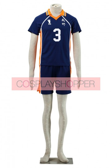 Haikyuu!! Asahi Azumane Karasuna High School NO. 3 Sports Uniform Cosplay Costume