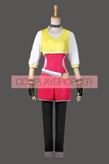 Pokemon Go Female Trainer Team Instinct Mystic Valor Yellow Shirt Cosplay Costume