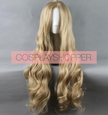 2015 Movie Brown 90cm Cinderella Cosplay Wig