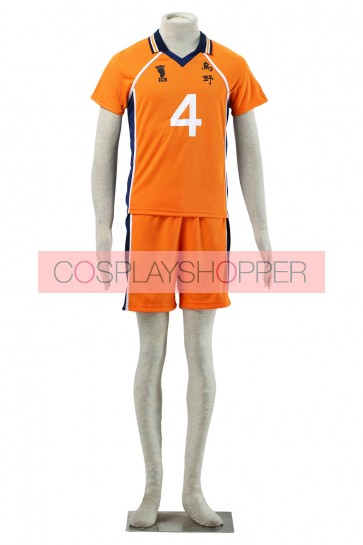Haikyuu!! Yu Nishinoya Karasuna High School NO. 4 Sports Uniform Cosplay Costume