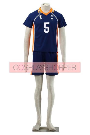 Haikyuu!! Ryunosuke Tanaka Karasuna High School NO. 5 Sports Uniform Cosplay Costume