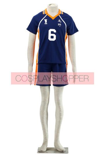 Haikyuu!! Karasuna High School NO. 6 Sports Uniform Cosplay Costume