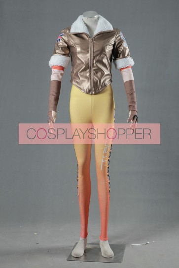 Overwatch Tracer Suit Cosplay Costume