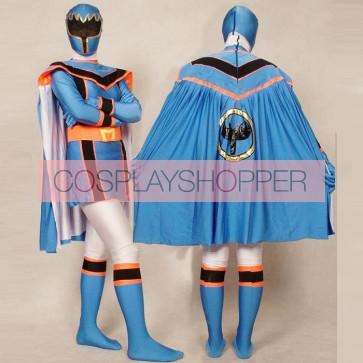 Blue Power Rangers Mystic Uniform Spandex Zentai Costume
