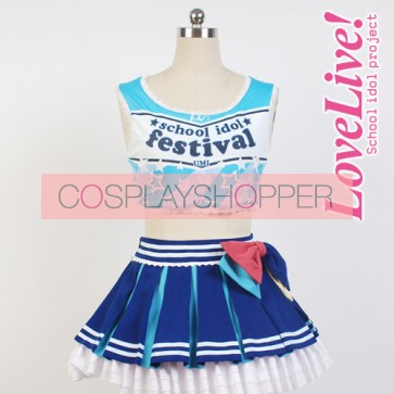 Love Live! Umi Sonoda Cheerleading Uniform Cosplay Costume