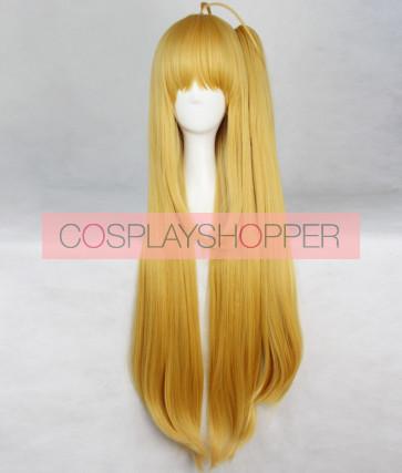 Yellow 135cm Charlotte Yusa Nishimori Yusa Kurobane Cosplay Wig