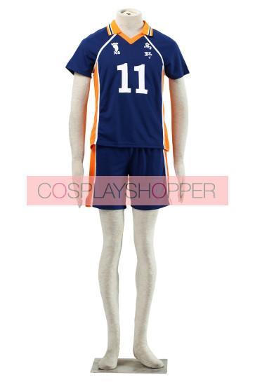 Haikyuu!! Kei Tsukishima Karasuna High School NO. 11 Sports Uniform Cosplay Costume