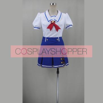 Aikatsu! Ichigo Hoshimiya/Aoi Kiriya Starlight Academy Summer School Uniform Cosplay Costume