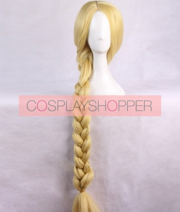 Gold 120cm Tangled Rapunzel Cosplay Wig