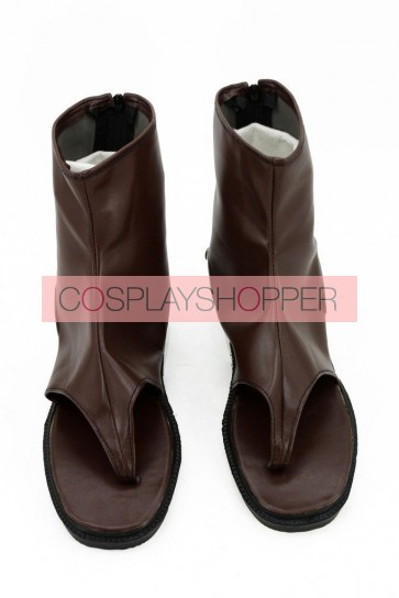 Kabaneri of the Iron Fortress Mumei Brown Cosplay Boots