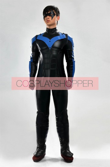 Deluxe Batman: Arkham City Nightwing Cosplay Costume
