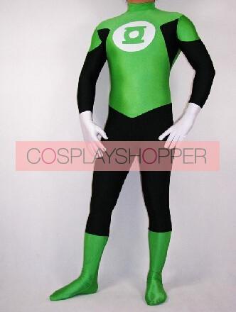 Green Lantern Spandex Superhero Zentai Costume