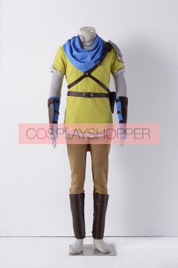 The Legend of Zelda: Hyrule Warriors Link Yellow Cosplay Costume