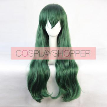 Green 90cm Shimoneta: A Boring World Where the Concept of Dirty Jokes Doesn't Exist Shimoseka Hyouka Fuwa Cosplay Wig