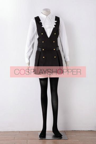 Inu x Boku SS Ririchiyo Shirakiin Black Dress Suit Cosplay Costume