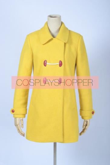 Gugure! Kokkuri-san Kohina Ichimatsu Yellow Cosplay Costume